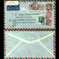 【实拍】1948年2月11日民国孙像国币1000元福建福州寄美国航空封