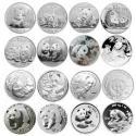 熊猫银币大全(1987-2017年)27枚