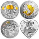 2015吉祥文化银质纪念币套装(4枚)