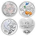 2017吉祥文化银质纪念币套装(4枚)