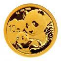 2019年1g熊猫金质纪念币