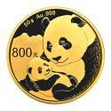 2018年50g熊猫金质纪念币