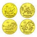 1980年 中国奥林匹克委员会铜质纪念币套装(4枚)
