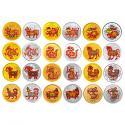 十二生肖彩色金�y�盘籽b(2009年牛-2020年鼠)24枚