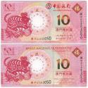2020澳门生肖鼠年纪念钞(尾三同)