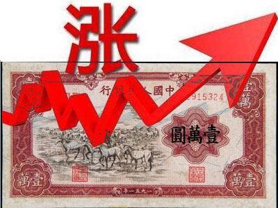 一万元牧马图纸币价格一直在上涨