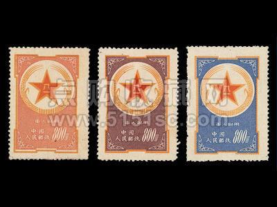 黃軍郵、紫軍郵和藍軍郵