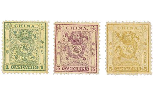 蟠龍郵票,清朝小龍郵票,小龍郵票,清代小龍郵票,上海工部小龍郵票
