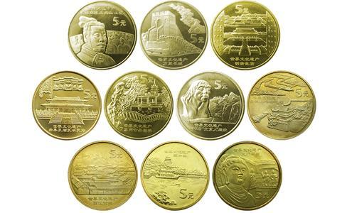 中國世界文化遺產紀念幣,文化遺產紀念幣,文化遺產流通紀念幣價格,世界文化遺產紀念幣,