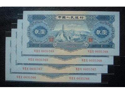 第二套人民幣2元寶塔山集藏價值