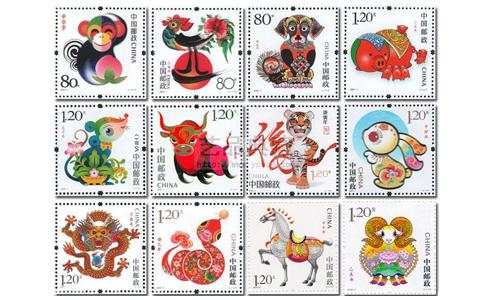 第三輪生肖郵票大全,第三輪生肖郵票價格,第三輪生肖郵票,三輪生肖郵票