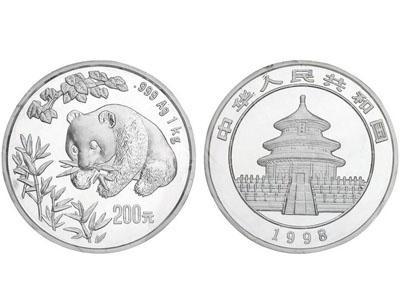 1998年熊貓銀幣抗跌能力強