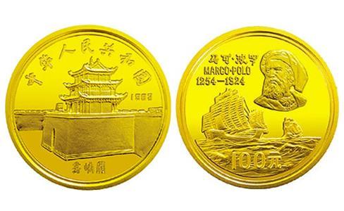 馬可波羅紀念金幣,1983年馬可波羅紀念金幣,1983年馬可波羅金幣,1983年馬可波羅紀念幣,馬可波羅金幣價格