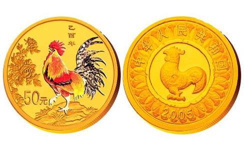 2005雞年錯版金幣,2005年錯版彩金幣,2005年雞年錯版幣,雞年1/10盎司錯版金幣,2005年雞年錯版金幣