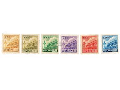 普5天安門郵票規格及面值