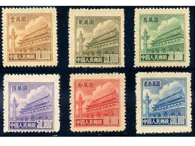 新中国珍邮之一 普5天安门邮票细节赏析