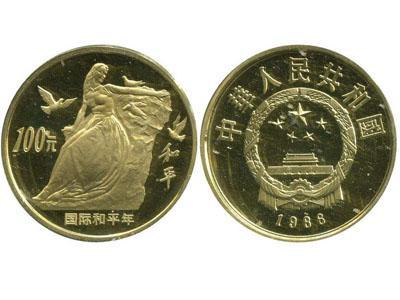1986年国际和平年金币详细介绍
