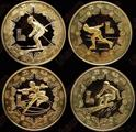 最早的体育币—80冬奥会铜质纪念币