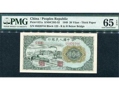 第一套人民币贰拾元立交桥详细信息