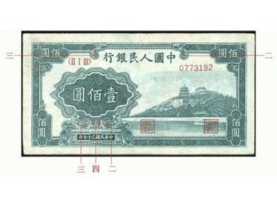 1948年壹佰圓紙幣萬壽山市場背景