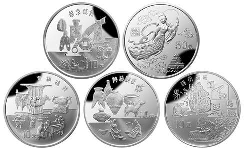 1997中国黄河文化纪念银币,中国黄河文化纪念银币第二组,1997年中国黄河文化10元银币,1997年中国黄河文化50元银币价格