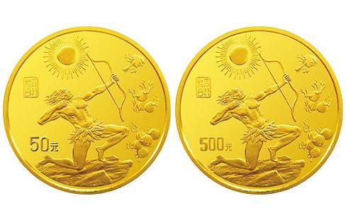 1997中國黃河文化紀念金幣,中國黃河文化紀念金幣第二組,1997年中國黃河文化50元金幣,1997年中國黃河文化500元金幣
