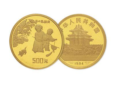 中國古代名畫嬰戲圖金銀幣隱藏的秘密
