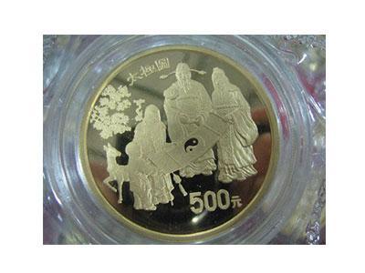 """嬰戲圖""""子孫和合圖""""1/2盎司紀念金幣欣賞"""