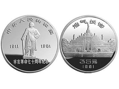 辛亥革命100周年金銀紀念幣發行公告