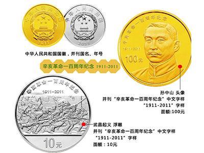 1981年辛亥革命70周年金銀幣介紹