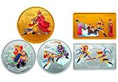 《西游記》彩色金銀紀念幣(第2組)一套五枚詳情