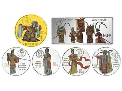 第一组京剧艺术彩色金银币《贵妃醉酒》历史介绍