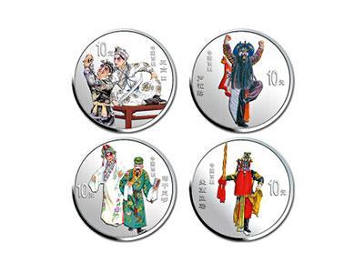 中国京剧艺术彩色金银纪念币第4组人物雕刻栩栩如生