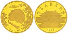 分析1993年孔雀开屏金币的市场