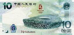 分析2008奧運紀念鈔價值