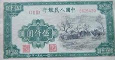 分析5000元蒙古包紙幣